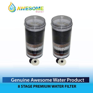 AWESOME WATER FILTERS - 8 Stage Filter - Premium, 2 Pack - Awesome Water
