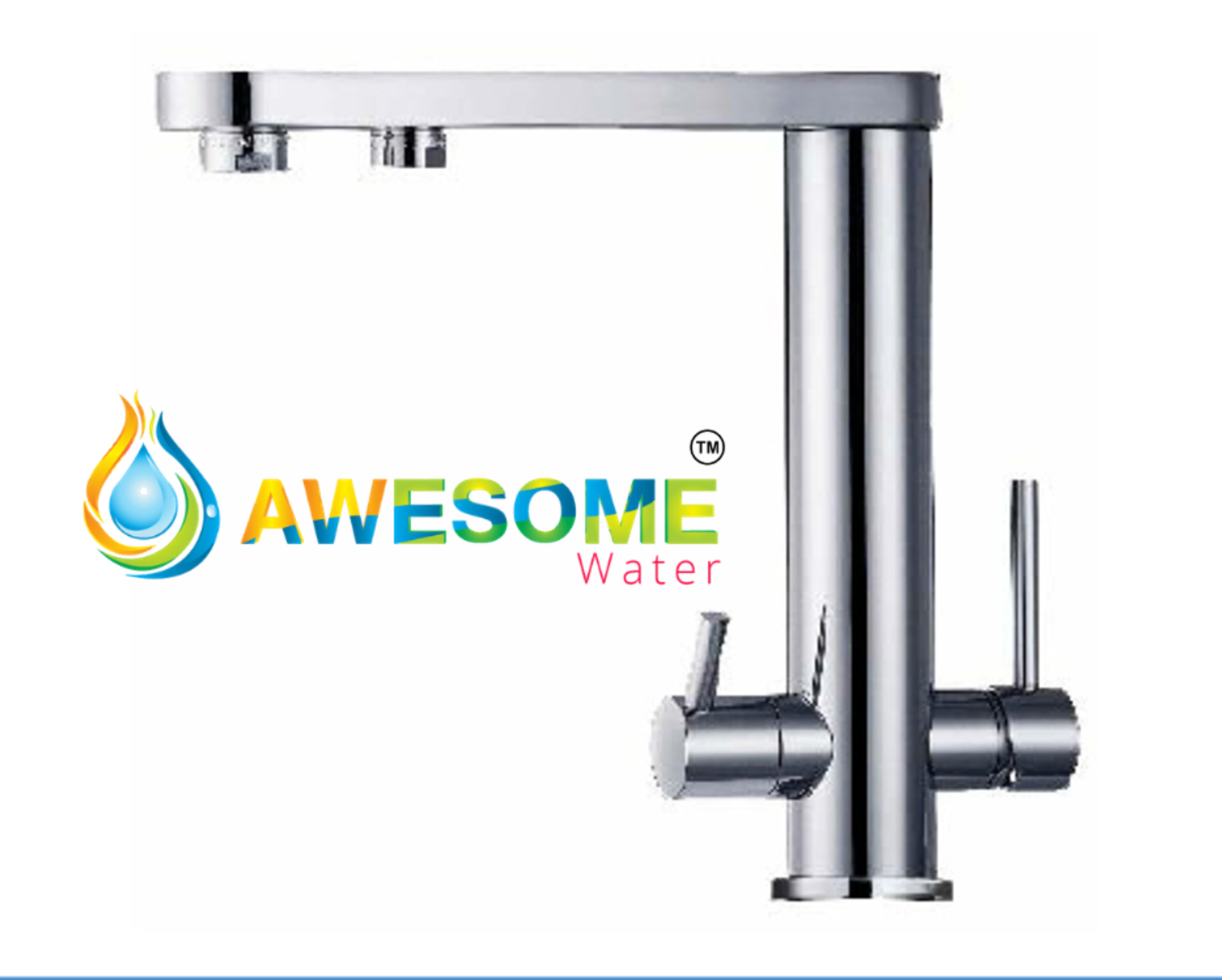 3 Way Mixer Tap Flat Sprout - Awesome Water