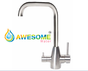 3 Way Mixer Tap Petite Shape Stainless Steel - Awesome Water