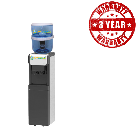 ECLIPSE - BLACK & SILVER - COLD & AMBIENT - FLOOR STANDING WATER DISPENSER! - Awesome Water