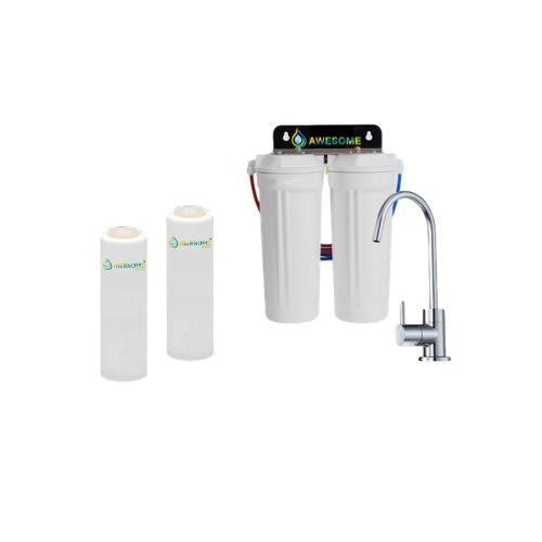 TWIN UNDER SINK FILTRATION - SEDIMENT & CARBON FILTERS - Awesome Water