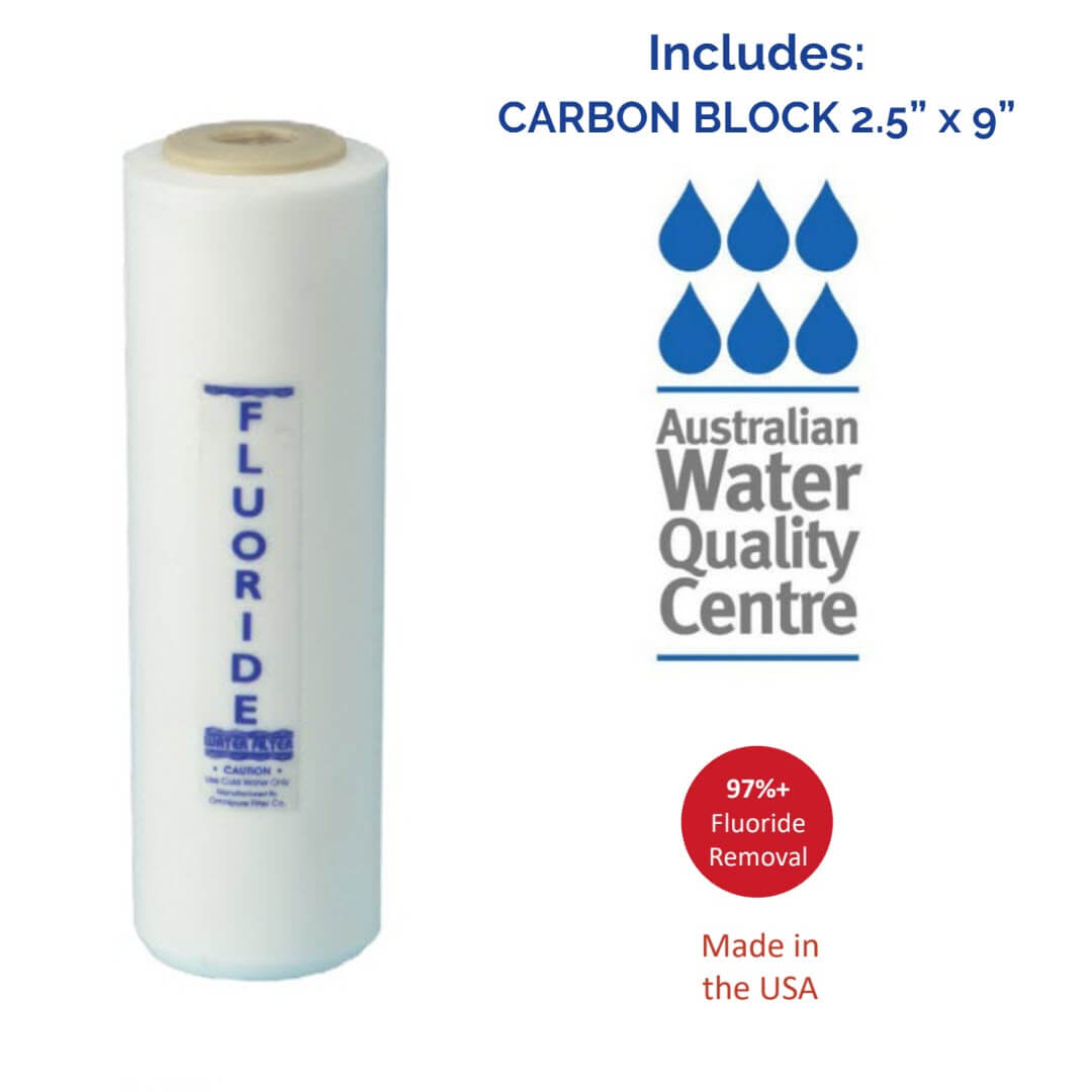 Awesome Water & Doulton Double UNDER SINK CARBON & Fluoride Removal Filter - Awesome Water