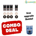 AWESOME WATER, 8 Stage Filter - Premium, Buy 4 Bundle Pack + 20L Bottle Upgrade Kit & Free Delivery - Awesome Water