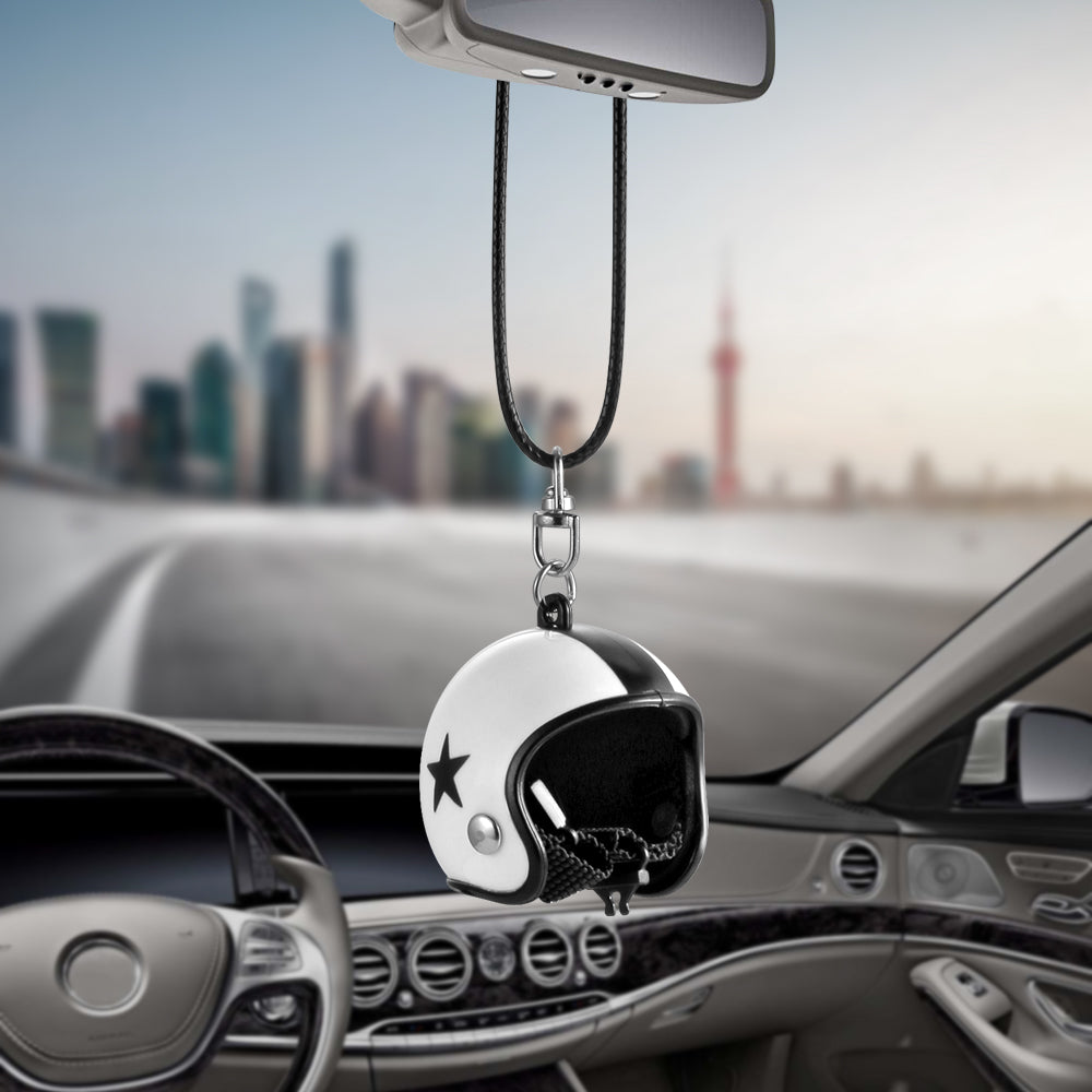 in view accessories car brave rear ornament item pendant craft fengshui clear wind chimes troops mirror crystal hanging lucky