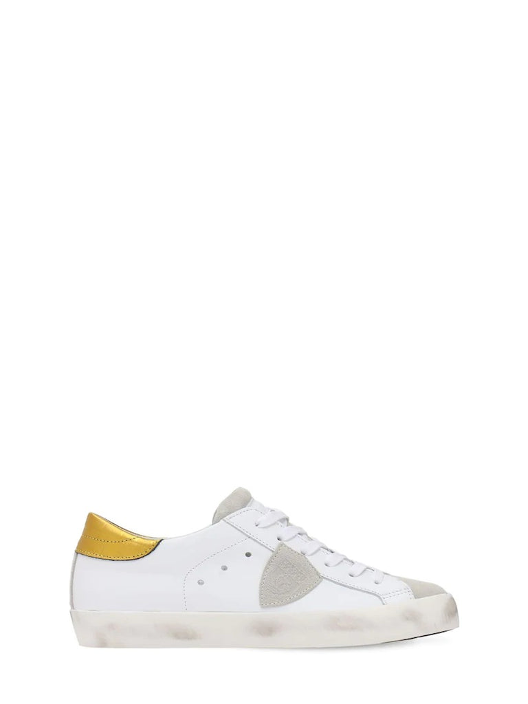 Baskets Paris Junior Croco Blanc fille Philippe Model