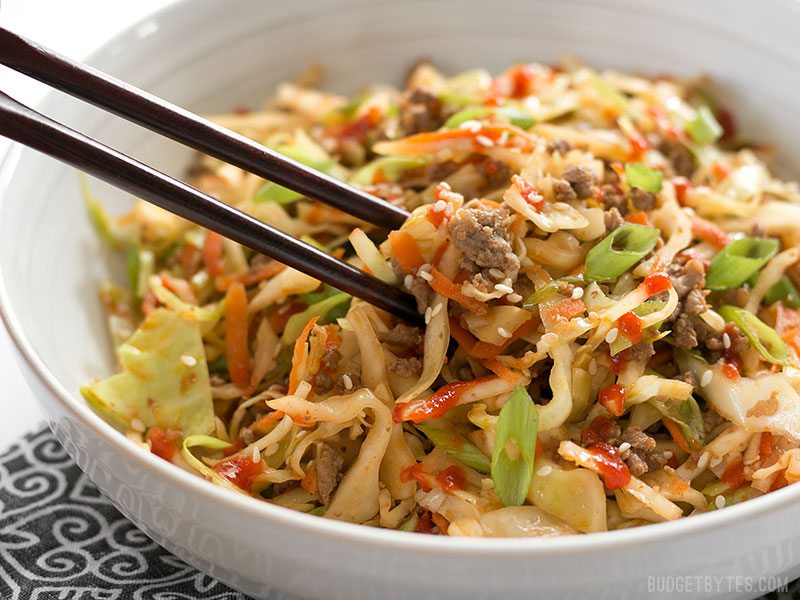 Beef & Cabbage Stir Fry