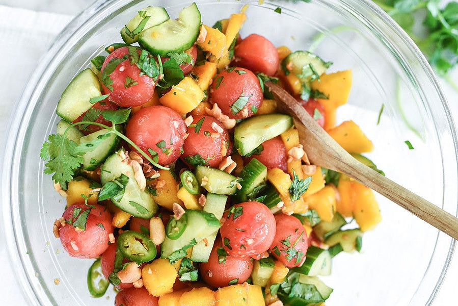 Cucumber, Basil & Watermelon Salad