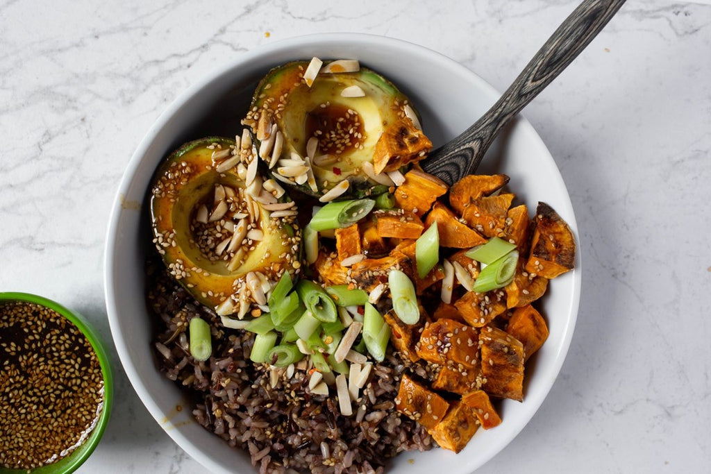 Sweet potato & Avocado Rice Bowl