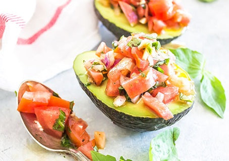 Bruschetta Filled Avocado