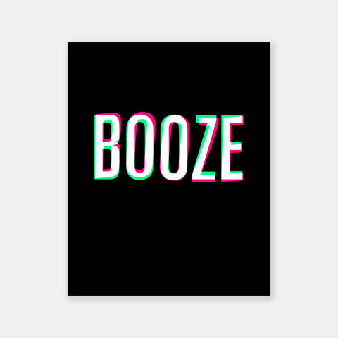 Booze Poster - Friends With Booze