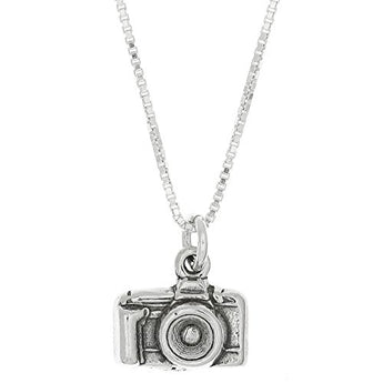 Sterling Silver Oxidized 3D Point and Shoot Camera Charm Pendant - Suha's Shop