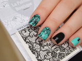 lace nail water decals, lace nail art
