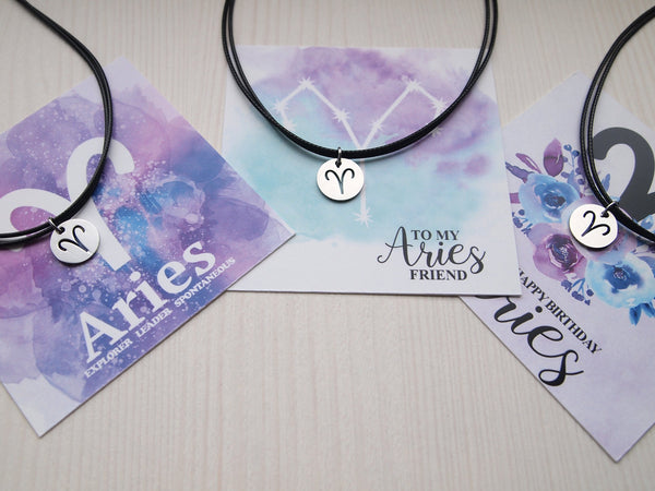 aries cord necklace for friends birthday