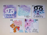 cancer zodiac birthday cards