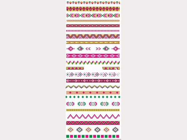tribal/ aztec nail decals, nail stickers