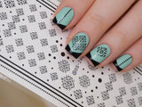 damask nail decals, moroccan nail stickers