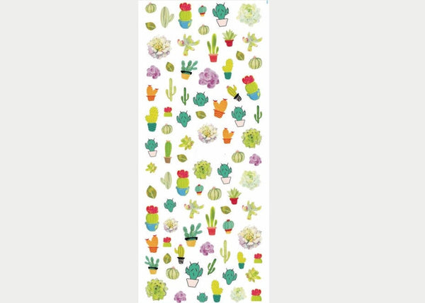 cactus nail decal, cactus nail sticker, nail art shop