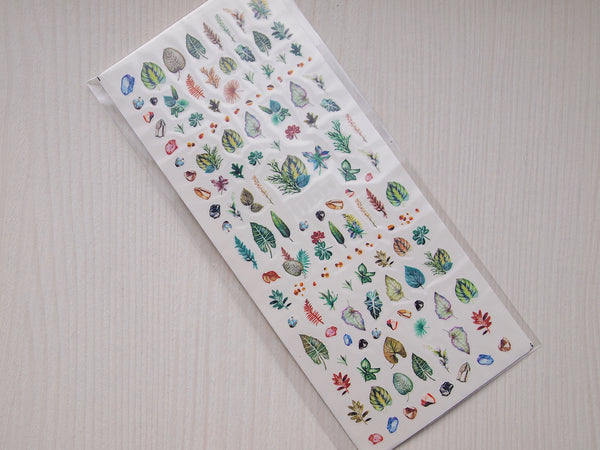green leaves nail decals, nature nail stickers, leaves nail art, nail art decoration