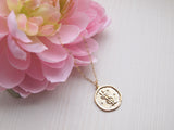 gemini medallion necklace, horoscope jewelry