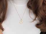 gold gemini medallion necklace, 14k gold filled chain