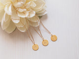 personalized initial necklace, layering coin necklace