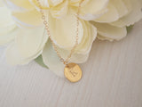 gold initial necklace, personalized gift