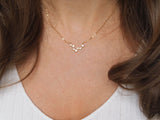 gold pisces constellation choker, 14k gold filled chain