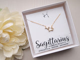 gold filled sagittarius necklace, gift for sagittarius