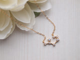 sagittarius zodiac charm on 14k gold filled chain
