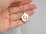 sagittarius medallion necklace, astrological necklaces