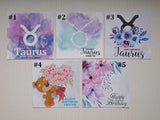 taurus birthday cards