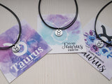taurus cord necklace, birthdaygift for taurus friend