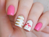 flamingo nail art, flamingo nails