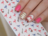 flamingo nail decals stickers