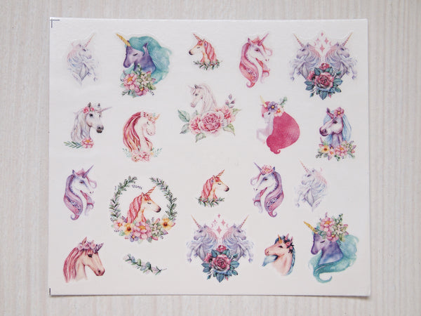 unicorn nail decal, unicorn nail sticker, unicorn nails