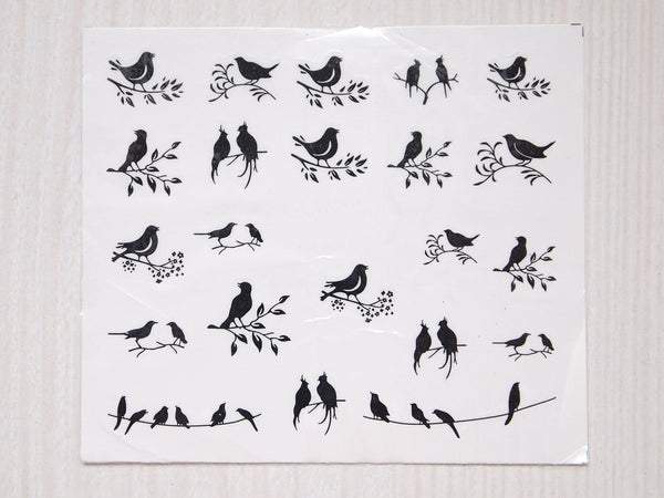 bird nail decal, bird nail sticker, nature nail art