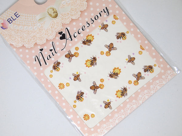 Bee nail decals