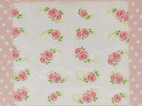 soft pink rose nail decals