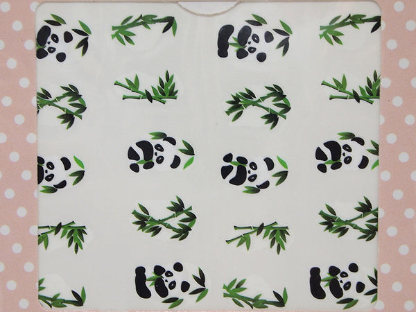 panda bear nail decals