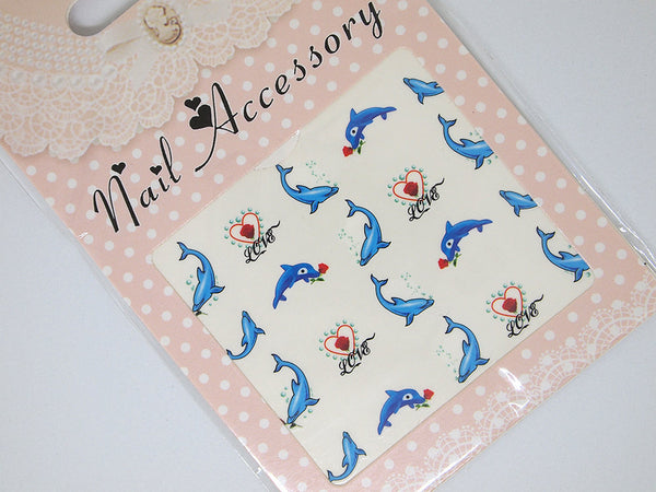 dolphin nail decals, dolphin nail art, dolphin nail stickers