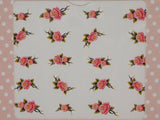coral rose nail decals