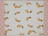 orange rose nail decals