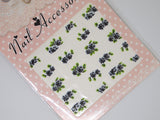 black flower nail decals