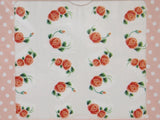 orange red rose nail decals