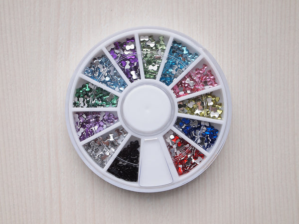 bow nail rhinestones, nail art resin stones, bows for nails, bow nail decor