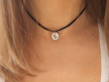 capricorn charm choker, capricorn sign necklace, astrological sign necklace