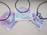 capricorn necklace with gifting card, capricorn zodiac choker