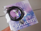 capricorn birthday gift, capricorn cord necklace