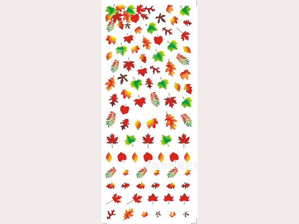fall nail stickers, maple leaves nail decals, fall nail art