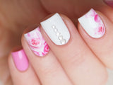 floral nails, decal for nail art, rose nail art, rose nails